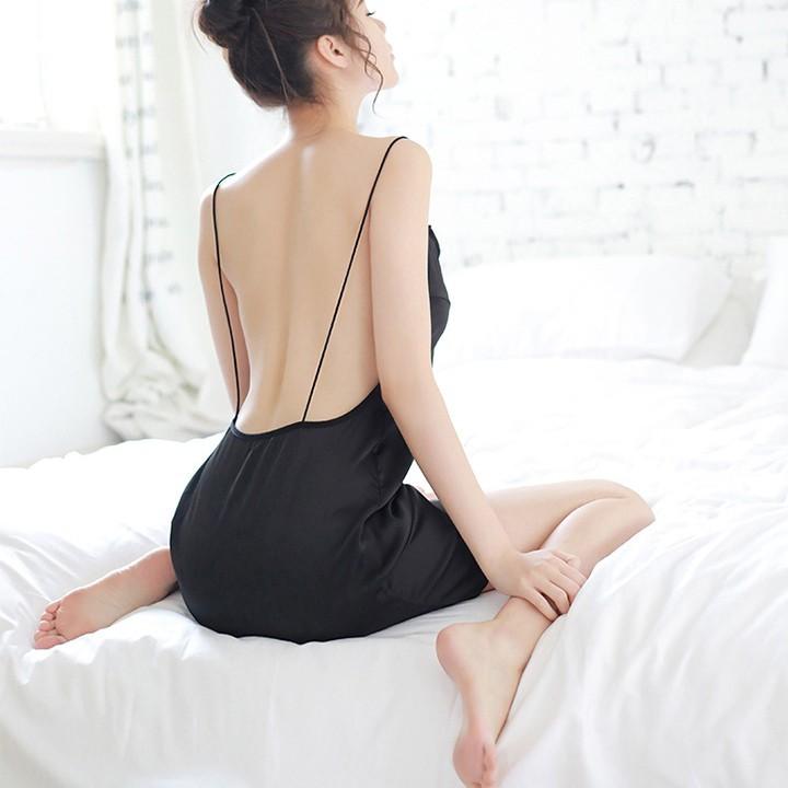 CÓ MÃ GIẢM GIÁ - Váy ngủ sexy giá rẻ (váy ngủ quyến rũ), đầm ngủ gợi cảm vải lụa mềm mại.
