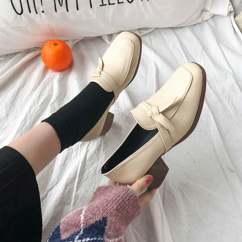 【Giày phụ nữ】Women's high-heeled shoes students deep-mouth shoes