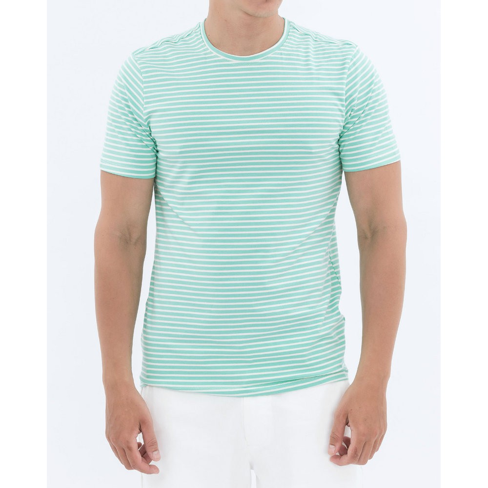 Áo thun nam The Cosmo Stripe t- shirt màu xanh TC1021016TU