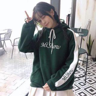 Áo khoác hoodie nỉ sọc tay thêu siêu yêu giá sỉmẫu mới nhất 2018