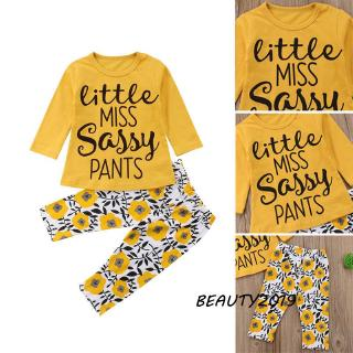 Hình ảnh -Comfy Toddler Newborn Baby Girls Floral Tops T-shirt + Pants Leggings Outfits Clothes