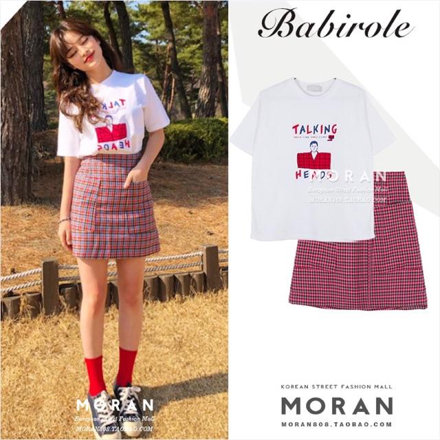 Set áo thun chân váy Moran (hàng có sẵn)