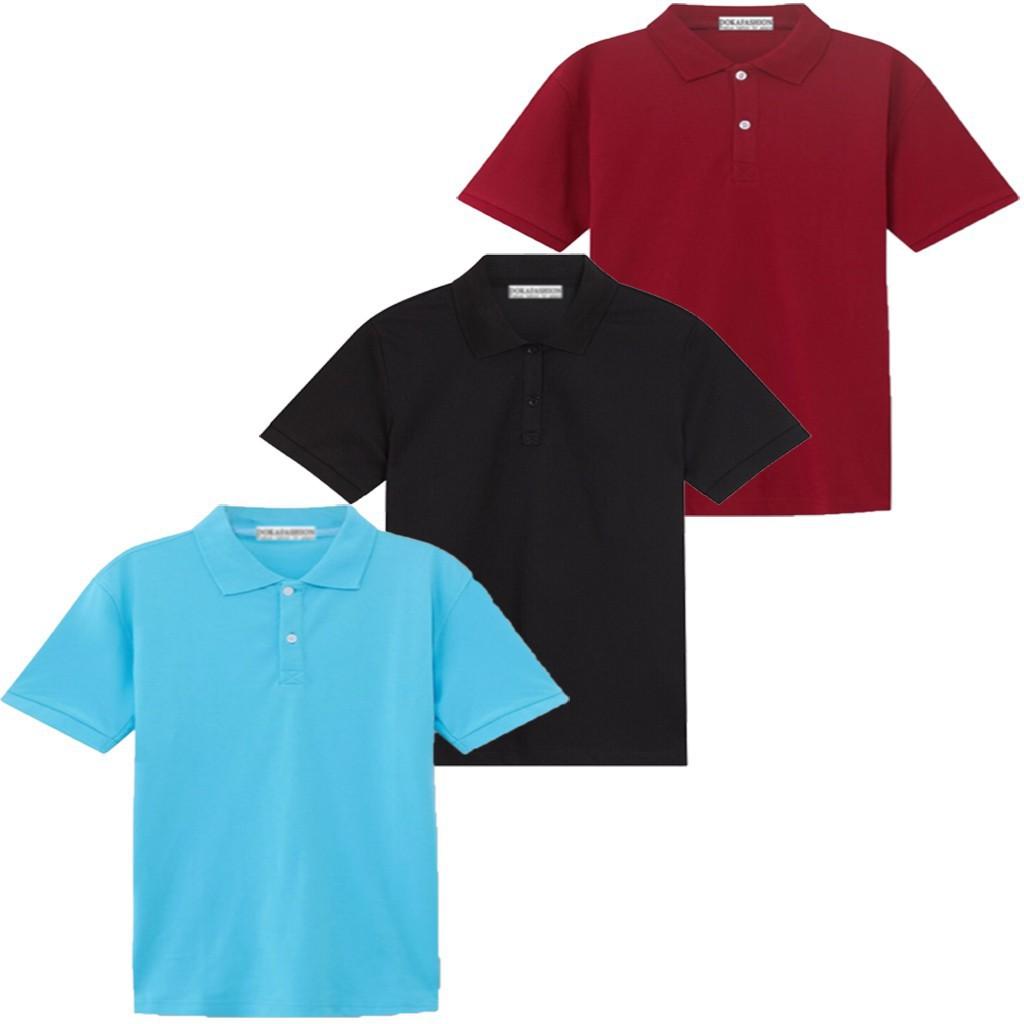 Áo thun nam, áo thun vải cá sấu, HM3 (đỏ, đen, xanh thiên thanh) _VNXK _Cao cấp