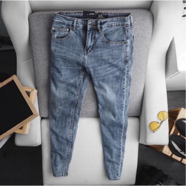 Quần jeans nam VNXK - Quần Jean Nam Ống đứng - jean co giãn đẹp nhất
