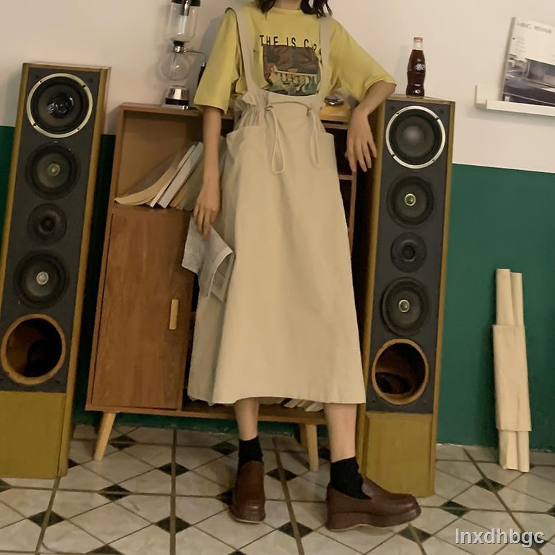 Chân Váy Yếm Lưng Cao Thời Trang Xinh Xắn Cho Nữ