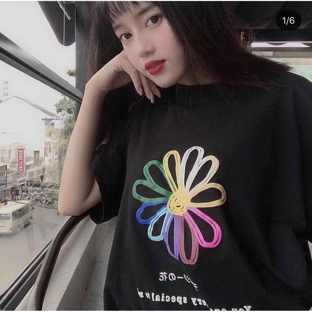 ÁO THUN TAY LỠ DAISY FLOWER COLOR UNISEX