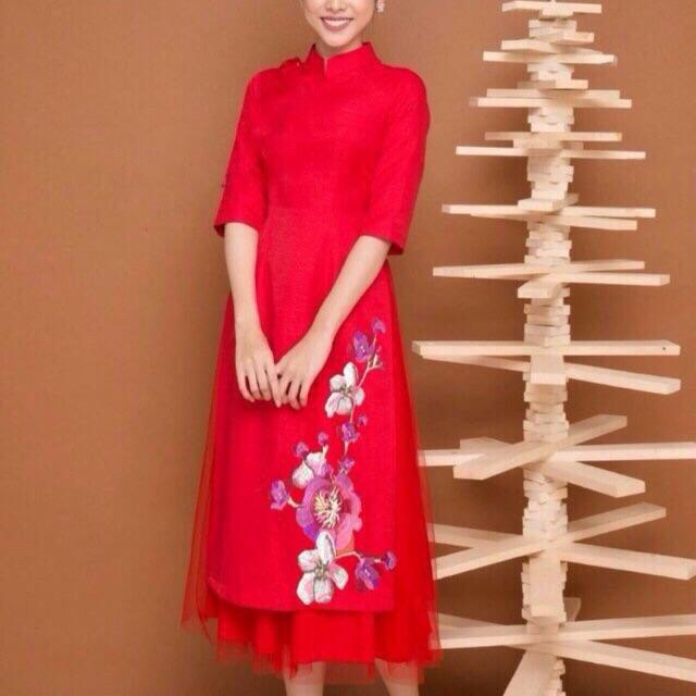 Áo dài cách tân kèm chân váy Cao cấp