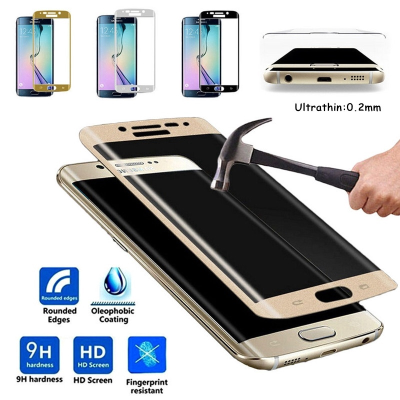 Samsung Galaxy S6 S7 Edge S8 S9 S10 Plus 5G Note 10+ 8 9 Tempered Glass Full Coverage Screen Protector Film