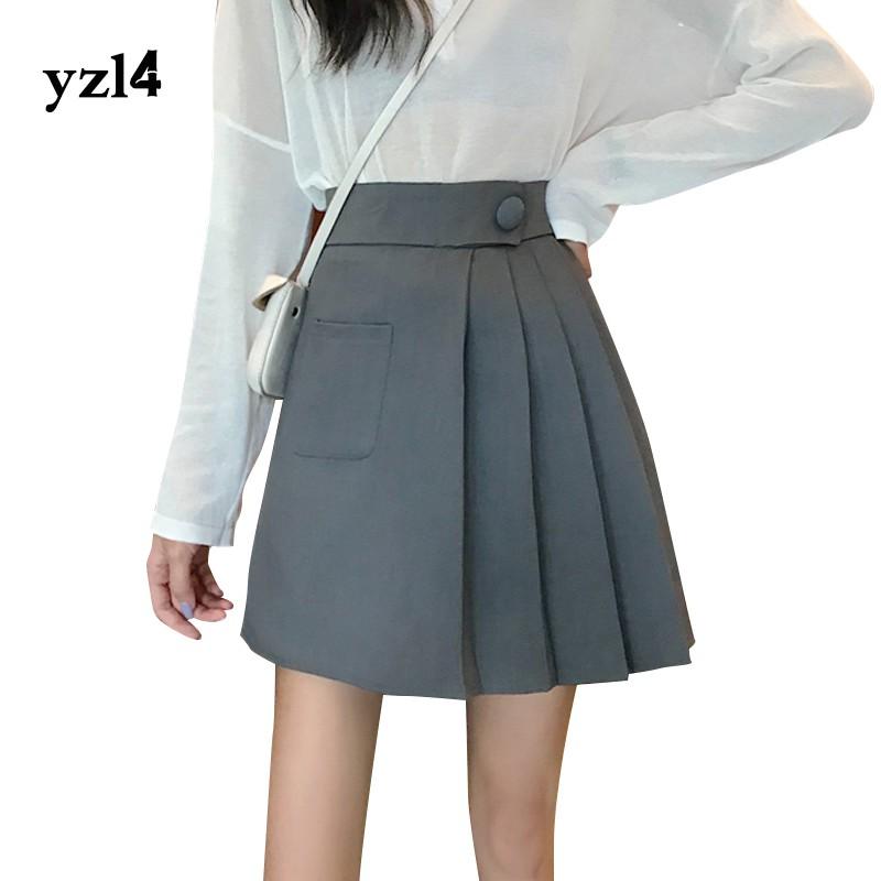 Chân Váy Lưng Cao Xếp Ly Xinh Xắn Thời Trang Cho Nữ