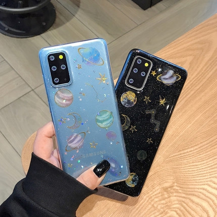 Glitter Drop Glue Starry Sky Transparent Soft Case for Samsung Galaxy S20 S20 Plus S20 Ultra Note 10 Pro A10 A20 A30 A50 A70 S10 S9 S8 Plus S10e Note 8 9