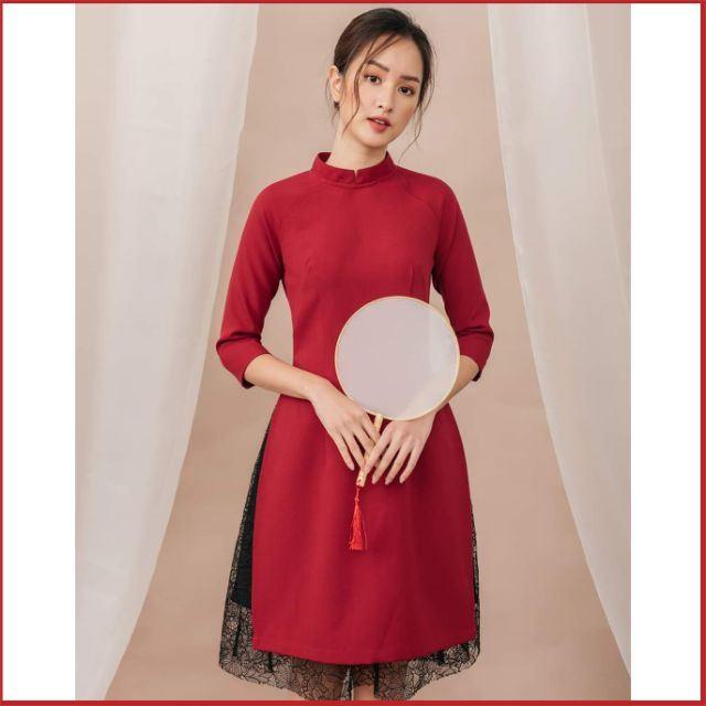 [Hàng Cao Cấp] Áo Dài Cách Tân Nữ Kèm Chân Váy