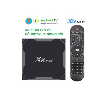Hình ảnh X96 MAX PLUS, Android TV 9.0, CPU S905X3, RAM 4GB, eMMC 32GB, Dual Band WiFi MU-MIMO, Bluetooth 4.1, LAN Gigabit 1000