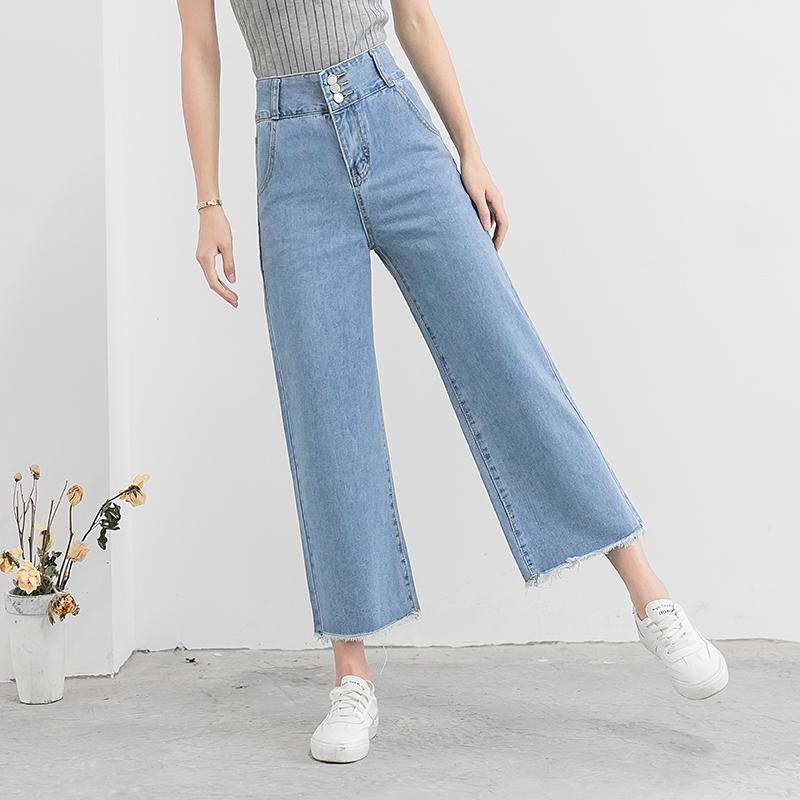 Quần jeans ống rộng thời trang và cá tính cho nữ