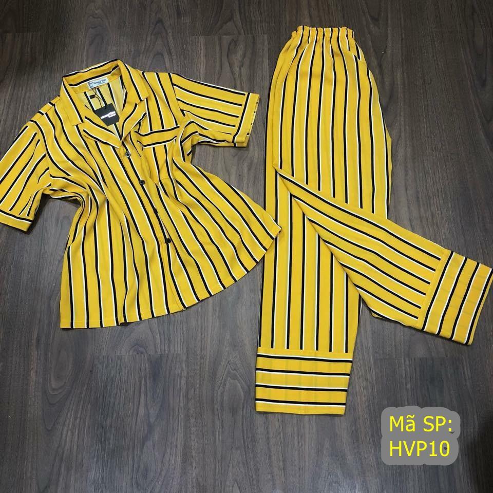 pijama vàng sọc vàng đen HVP10