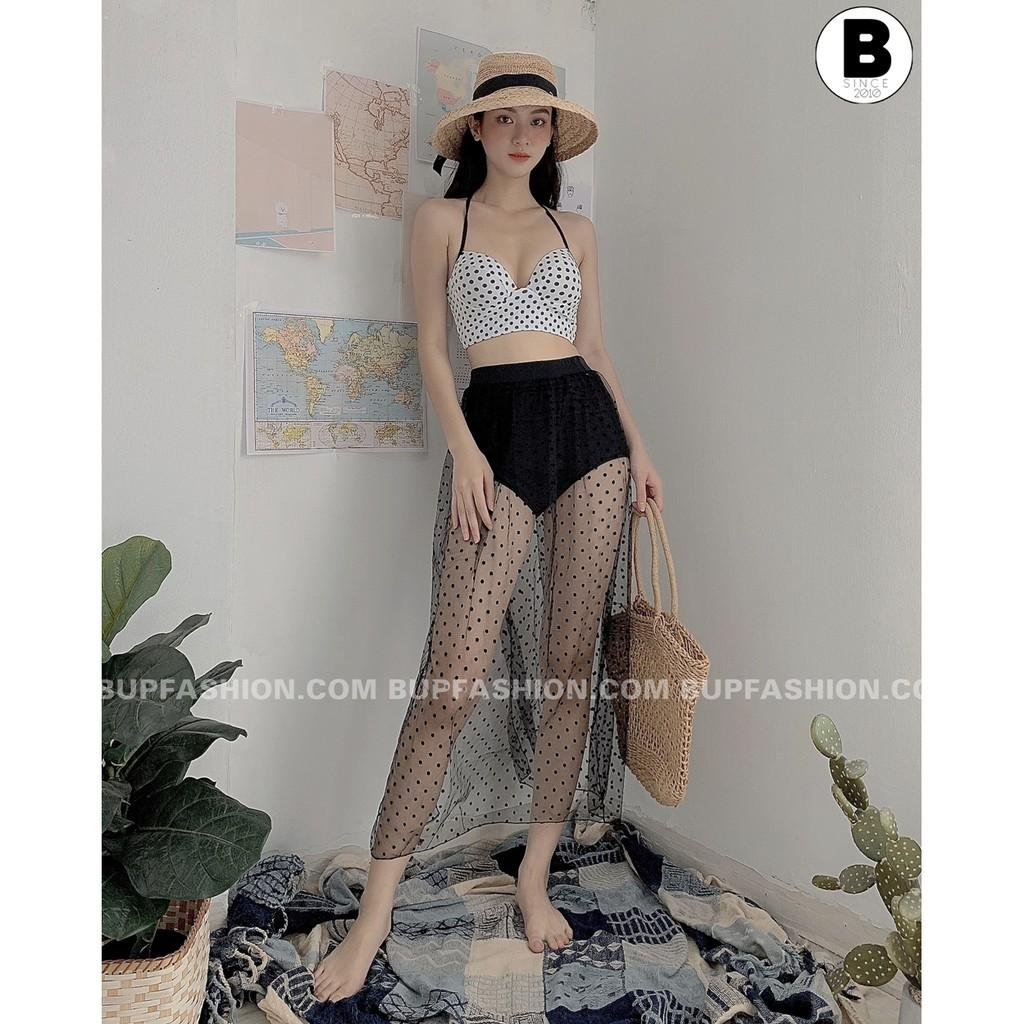 BG069 set bikini 3 mảnh kèm chân váy