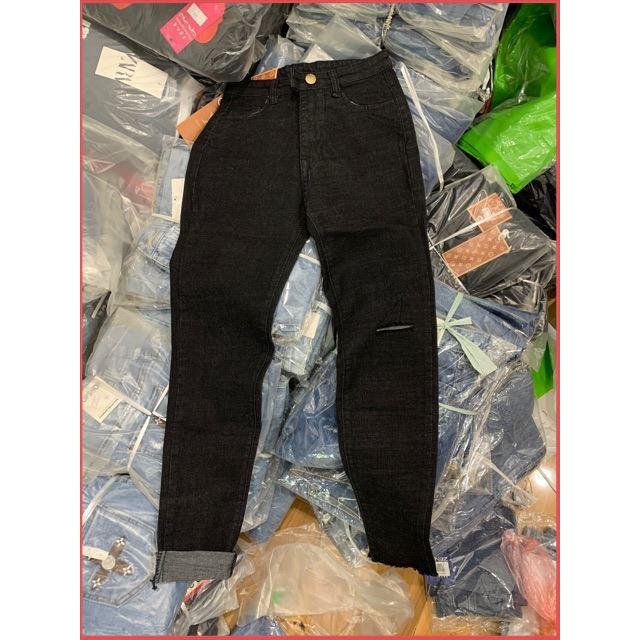 quần jean khuy giả rách gối 2020 Kèm Ảnh Thật