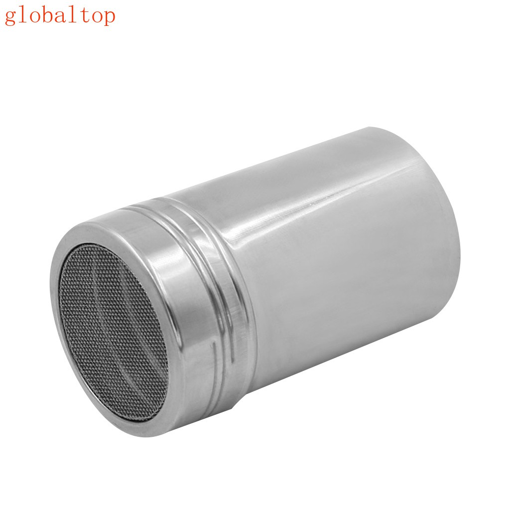 Stainless Steel Coffee Powder Dredger Icing Sugar Salt Shaker Cocoa Cinnamon Flour Mesh Sifter Sprinkler