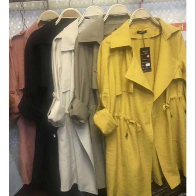 Áo khoác măng tô nữ dáng dài