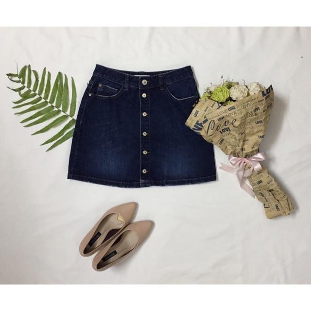 Chân váy và khoác Jeans