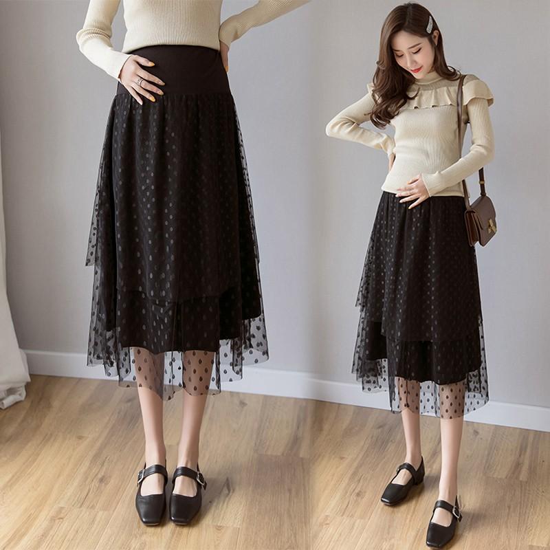 chân váy dài chấm bi thời trang nữ tính
