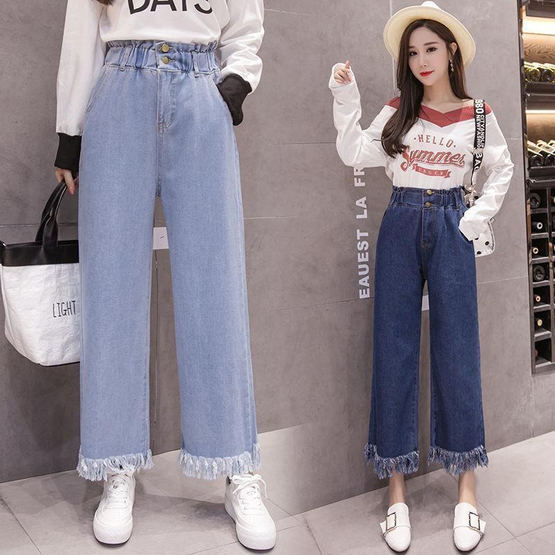 Quần jeans thời trang ống rộng phong cách năng động