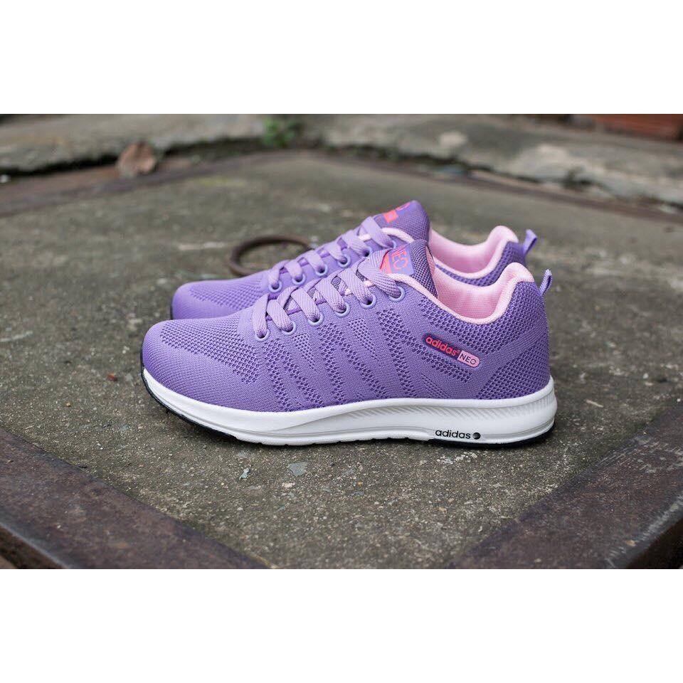 Giày Adidas Neo Tím Size Nữ 36-40