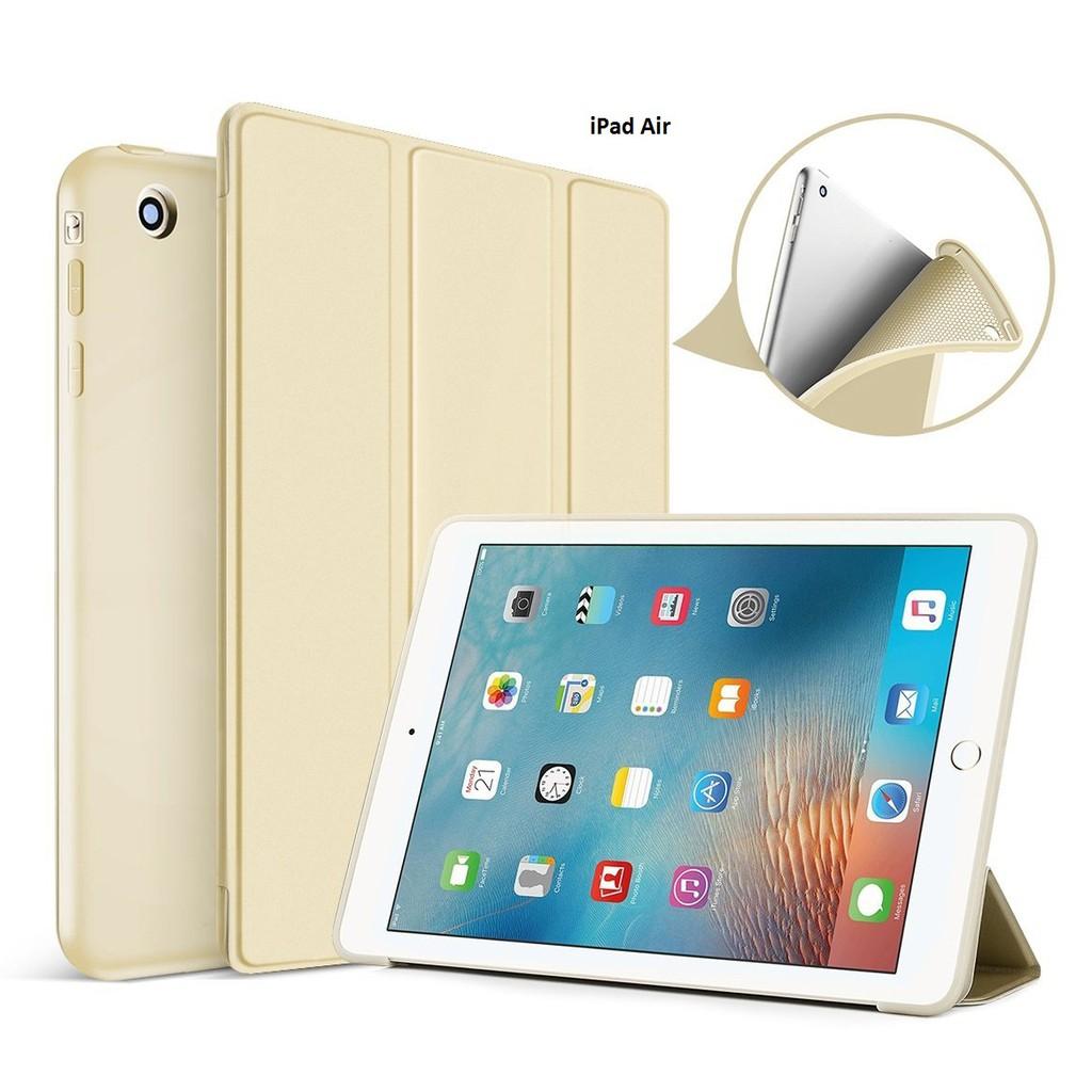 Bao da kiêm ốp lưng cho iPad Air (Gold) M2