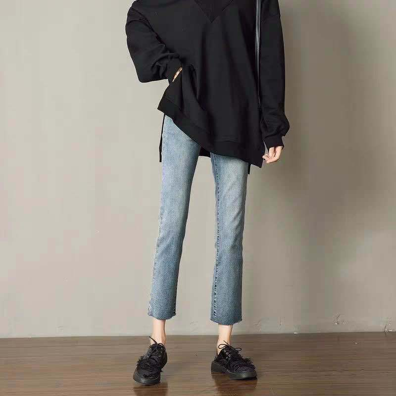 Quần Jean Lưng Cao Ống Rộng Thời Trang 2020 Cho Nữ