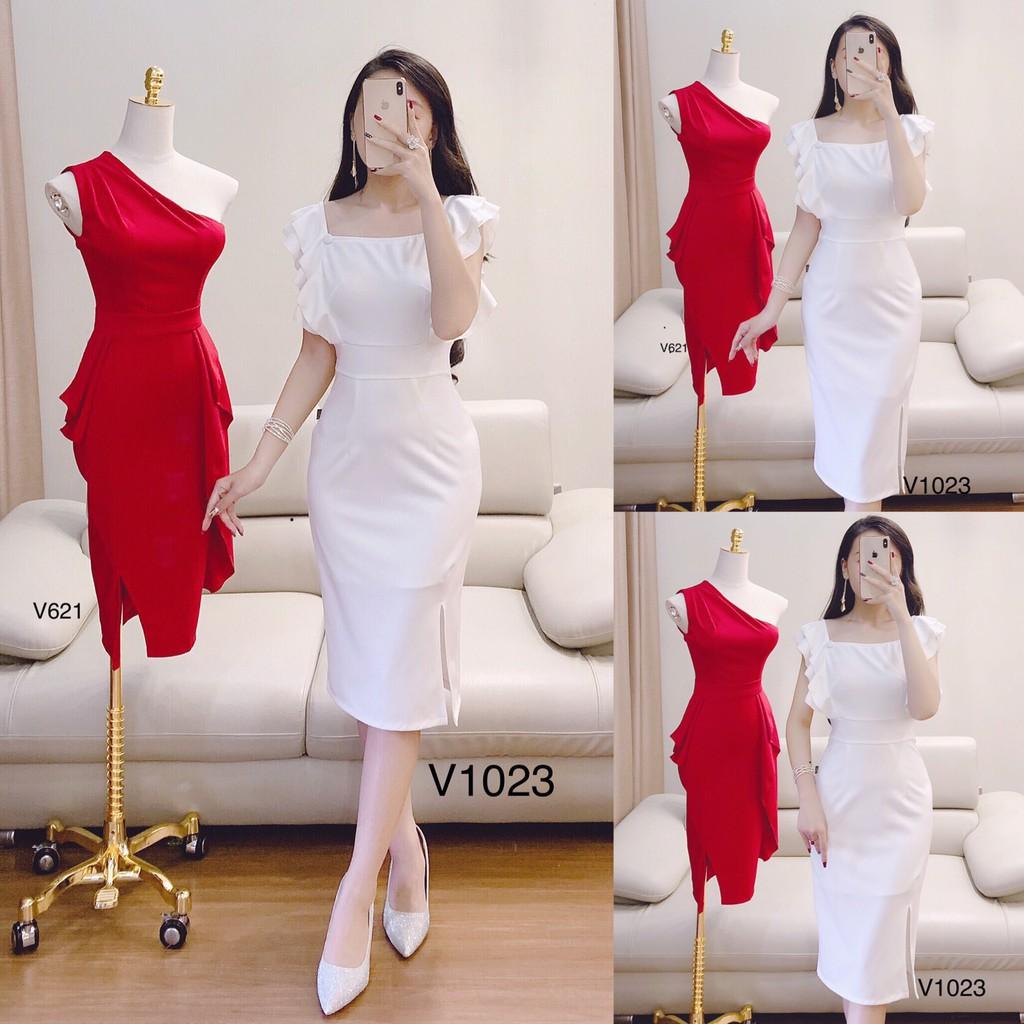 ♥ Váy đầm suông trắng V1023 ảnh thật ♥