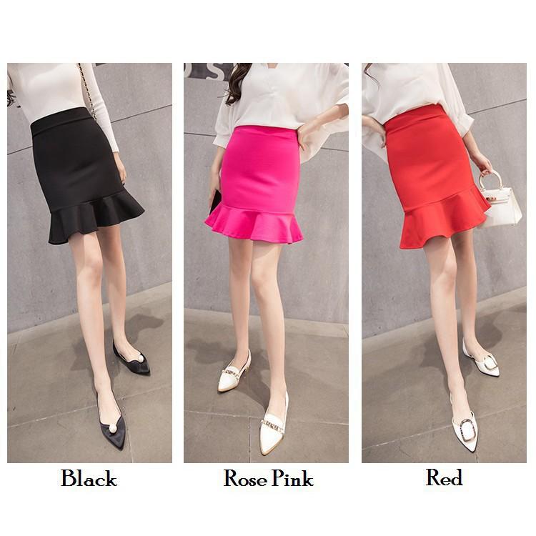 Chân Váy Đuôi Cá Xếp Ly 2020 7.9 Plus Size Phong Cách Hàn Quốc Cho Nữ