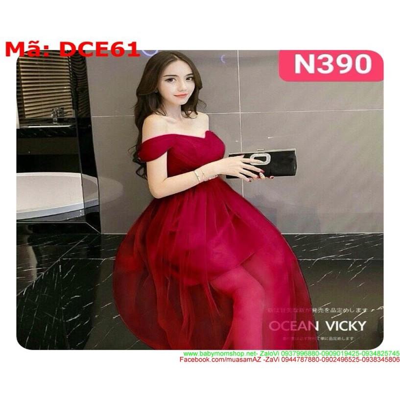 Đầm cô dâu cúp ngang rớt vai xinh đẹp và duyên dáng DCE61.