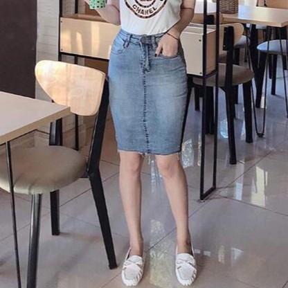 [ẢNH THẬT + VIDEO] Chân Váy Jeans Nữ Thời Trang Cao Cấp OHS747