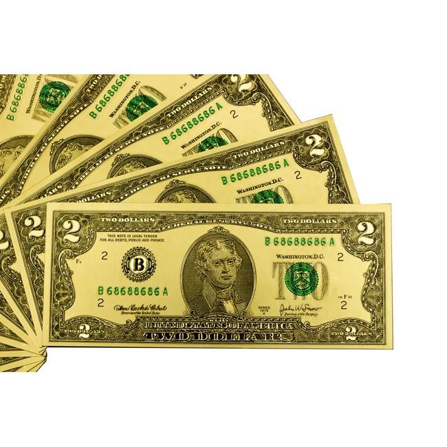 [CỰC HOT] LÌ XÌ MẠ VÀNG 2$ VÀ 100$