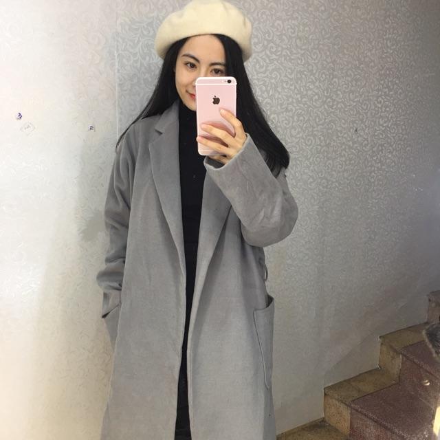 Áo khoác dạ hàn dáng dài