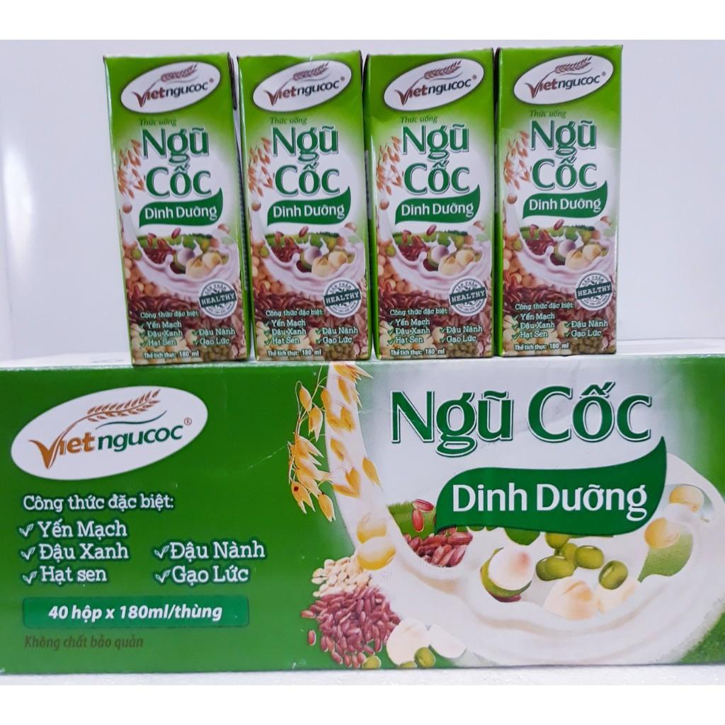 Thùng 40 Hộp Thức Uống Ngũ Cốc Dinh Dưỡng Vietngucoc 180ml (Shop bán không kèm khuyến mại)