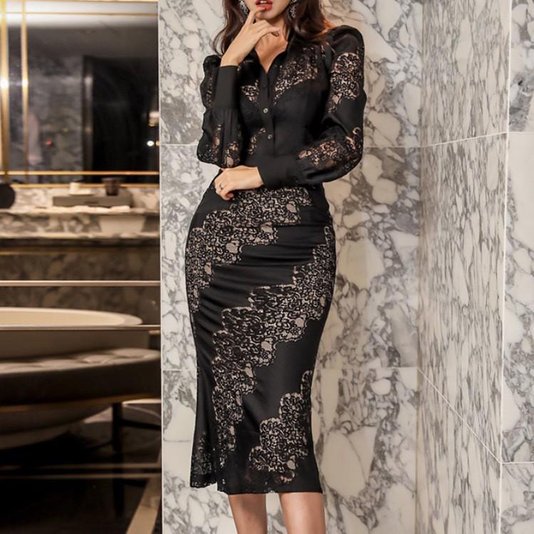 Bộ Áo Phối Ren + Chân Váy Lưng Cao Xinh Xắn Dành Cho Nữ 2020