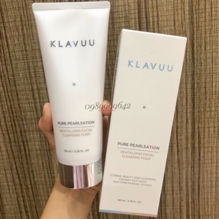 [Duty-Free] Sữa rửa mặt Ngọc Trai - Klavuu Pure Pealsation Revitalizing Facial Cleansing Foam 130ml