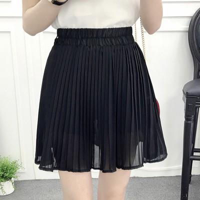 1321936521 - [NGOD2805 - giảm thêm 15k] Chân váy xòe xếp ly ngắn màu đen có lớp lót quần short an toàn 1