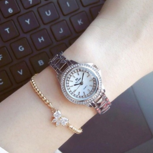 [Mã WTCHJAN giảm 20K ] Đồng hồ nữ Bee sister dây kim loại 1462 size 26mm nhỏ xinh