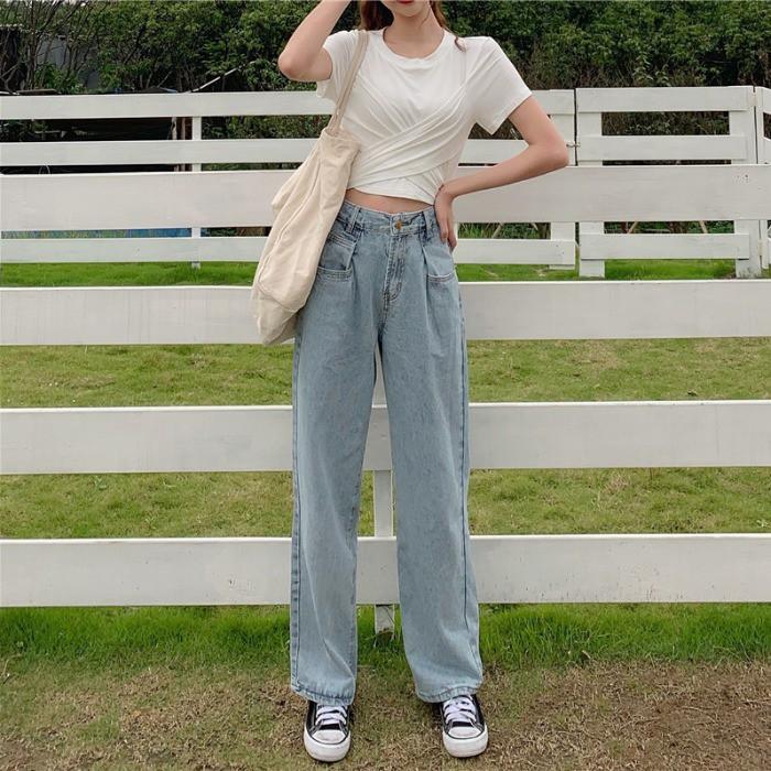 [ORDER] Quần jeans ống rộng xanh nhạt hot trend