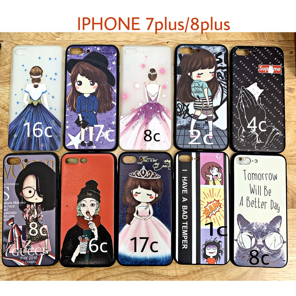 COMBO ỐP THANH LÝ, ÔP lẻ size giá từ 7k ( IPHONE 7PLUS/8PLUS/X/XS vuốt ảnh sang để chọn mẫu )