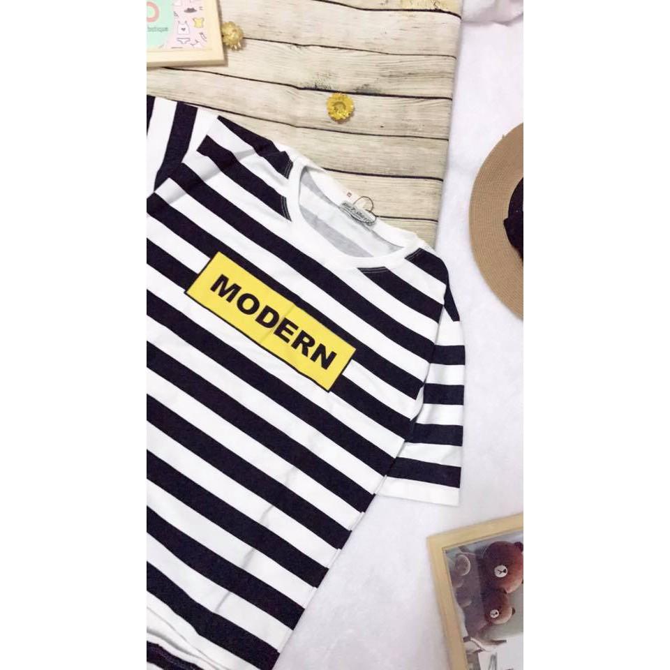 [2 mẫu] Áo thun tay ngắn size M và L- áo thun teen Ken Tshirt- áo thun sọc in hình