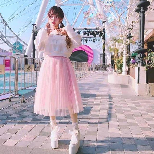 Chuẩn chân váy tutu (sỈ 39k)cÓ clip, Ảnh thẬt 4 mÀu đầm công chúa lưới ren 2 lớp hàng chọn