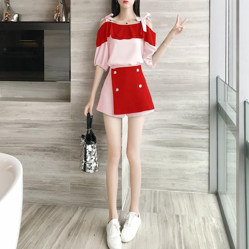 Set Áo Thun Ngắn Tay + Chân Váy Xinh Xắn Thời Trang Mẫu 2020 Dành Cho Nữ