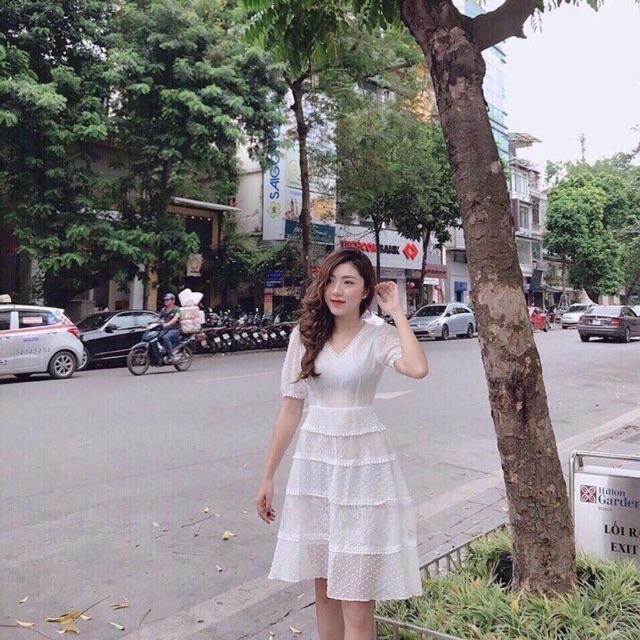Váy trắng tiểu thư (kèm video sản phẩm)