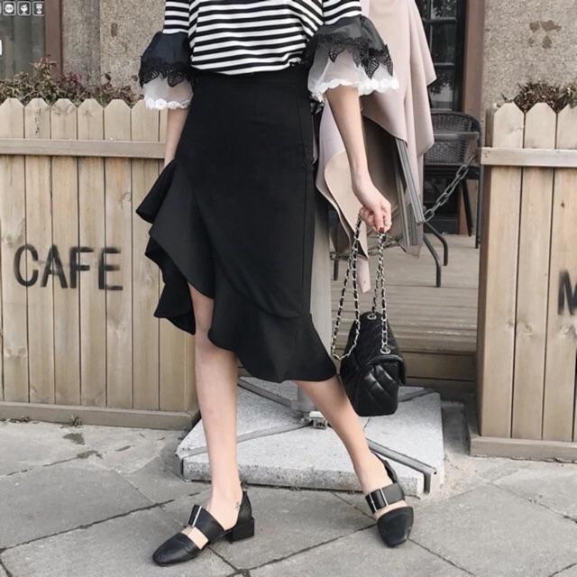 [Order] Chân váy xoè đen