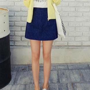 Chân váy chữ A màu denim
