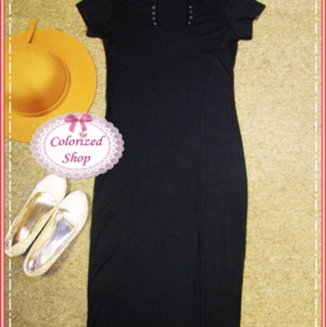 Váy body đen trơn