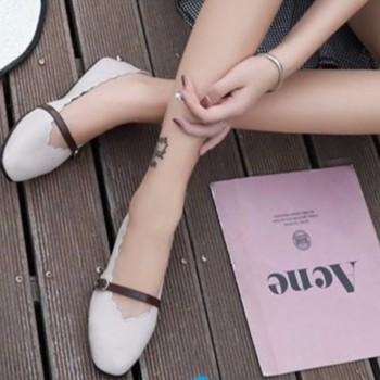 Giày búp bê dây ngang