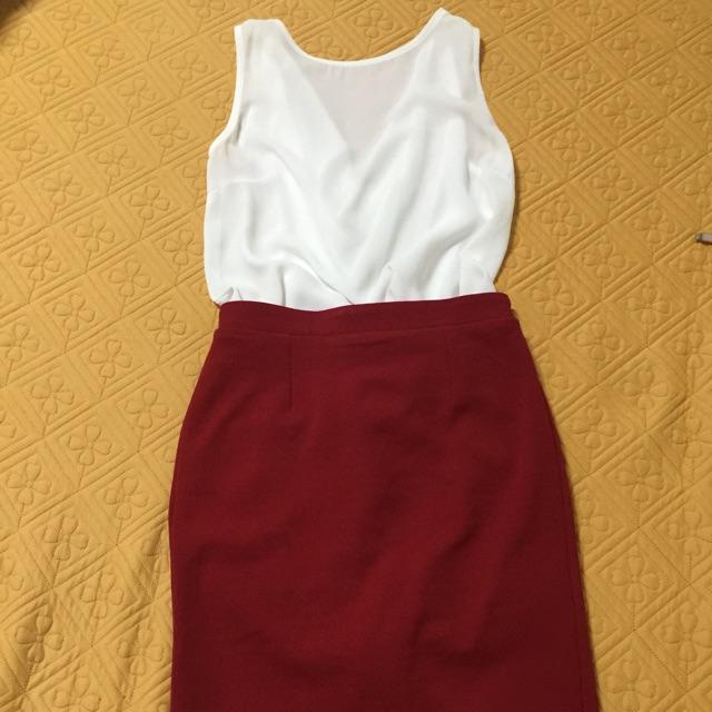 Set áo và chân váy POXI size S